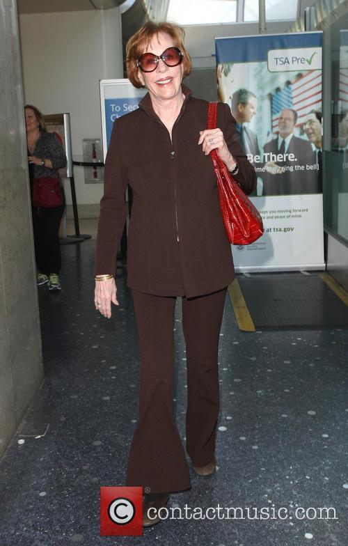 Carol Burnett arrives at Los Angeles International (LAX)...