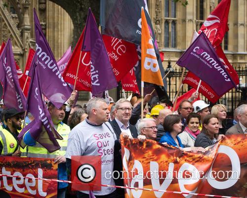 Len Mccluskey (centre) 1