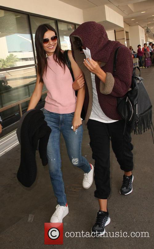 Victoria Justice at Los Angeles International Airport