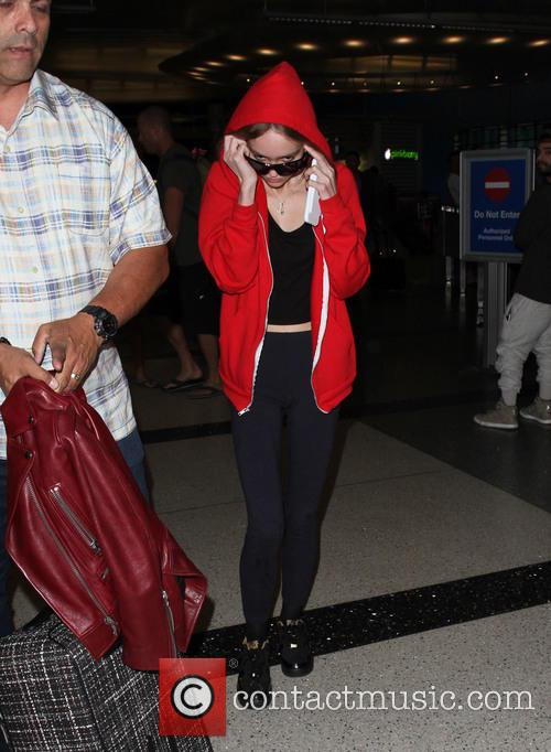 Lily Rose Depp arriving at LAX