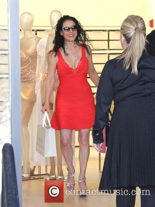 Lourdes Munguía shopping in Beverly Hills