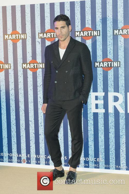 Miguel Ángel Silvestre attends opening of Terraza Martini...