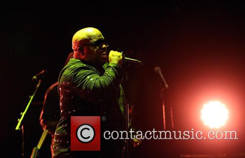 American Singer CeeLo Green performing live on stage...