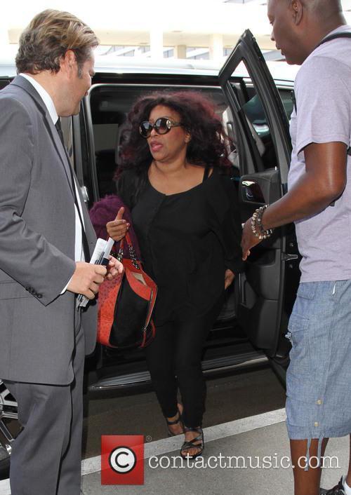 Chaka Khan arrives at Los Angeles International Airport...