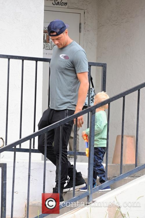 Josh Duhamel spotted out with his son Axl...