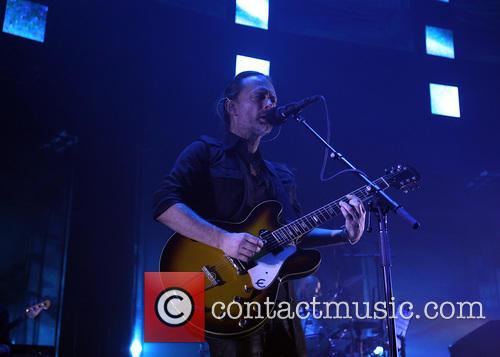 Thom Yorke performs songs by Radiohead at the...