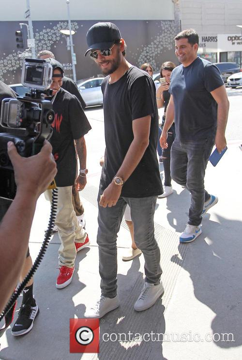 Scott Disick and Tyga spotted on their way...