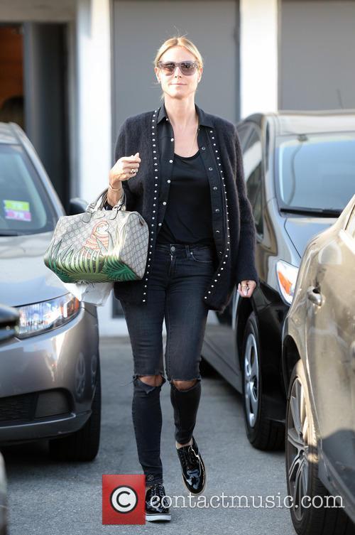 Heidi Klum spotted leaving Mêche hair salon