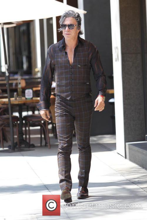 Mickey Rourke leaving Cafe Roma in Beverly Hills