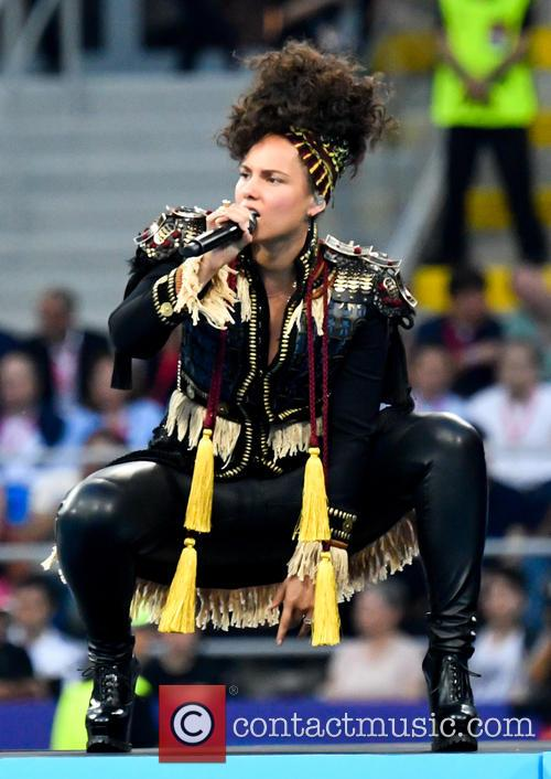 Alicia Keys performs at the 2016 UEFA Champions...