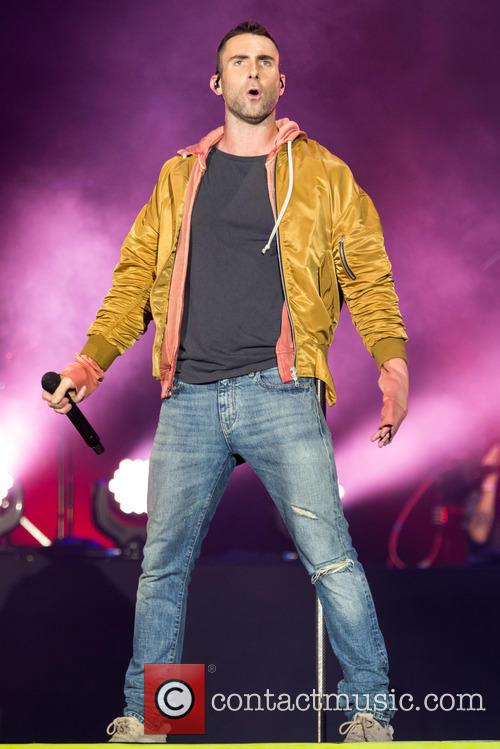 Adam Levine performs with Maroon 5 at Rock in Rio