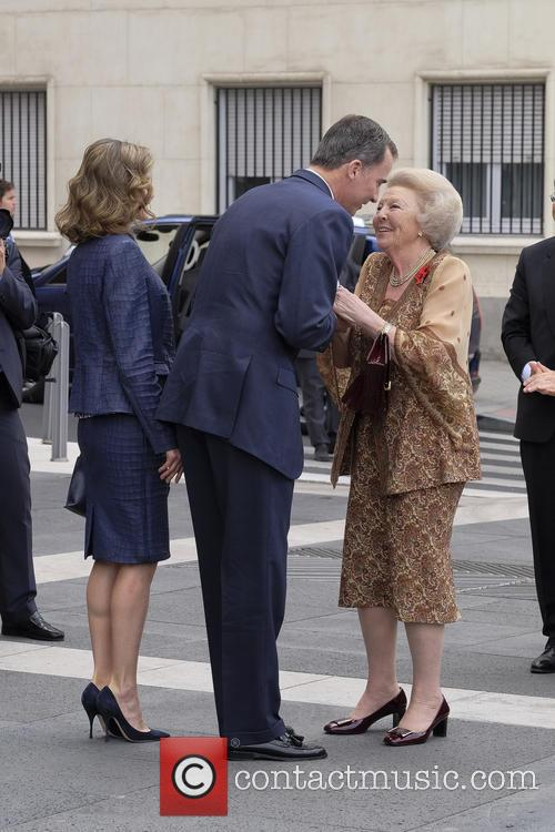King Felipe Vi Of Spain, Queen Letizia Of Spain and Princess Beatrix Of The Netherlands 3