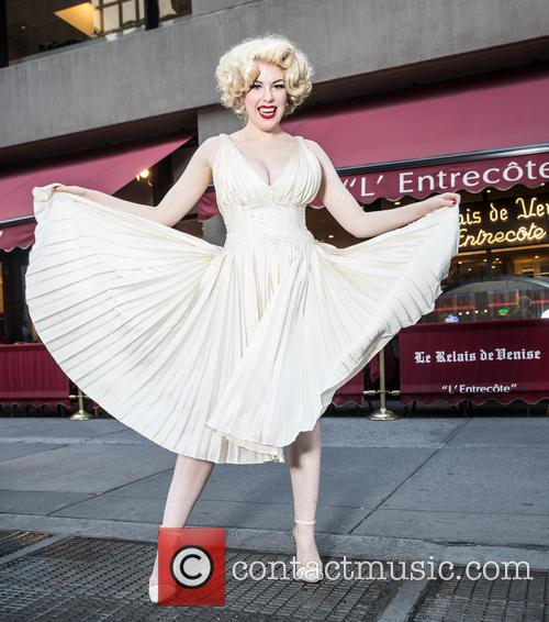 Anna Zand as Marilyn Monroe recreates the famous...