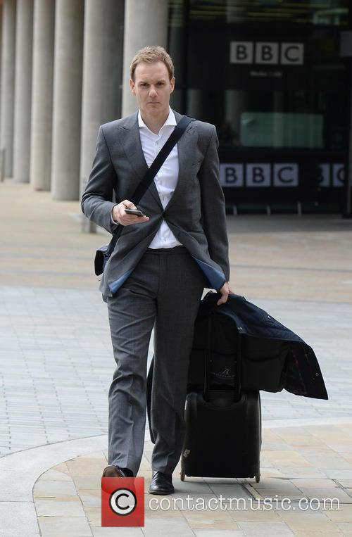 Celebrities leave the BBC studios at Media City...