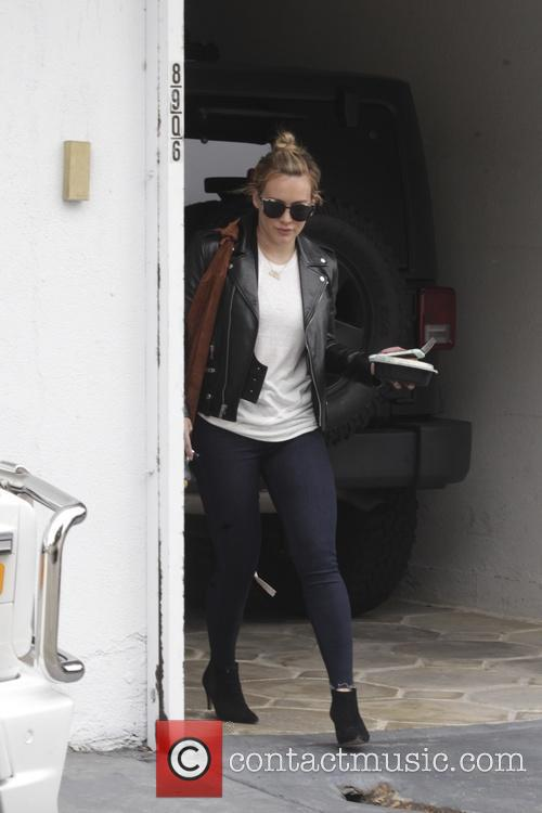Hilary Duff leaving the gym in Beverly Hills