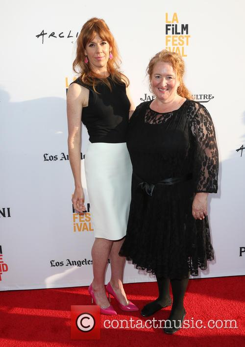 Kate Nowlin and Rusty Schwimmer