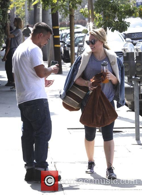 Hilary Duff leaves the gym in Beverly Hills