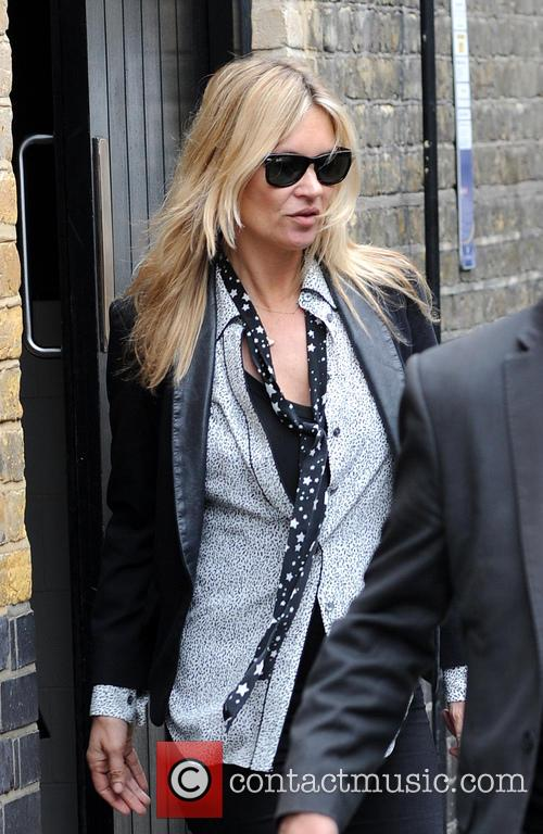 Kate Moss and boyfriend leave The Firehouse