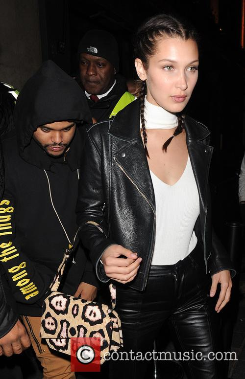 Bella Hadid, The Weeknd and Abęl Makkonen Tesfaye 9