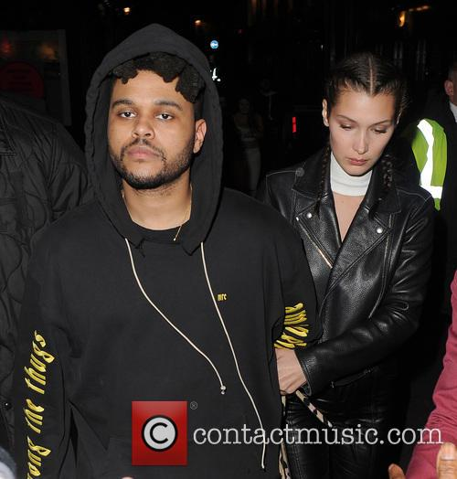 Bella Hadid, The Weeknd and Abęl Makkonen Tesfaye 11