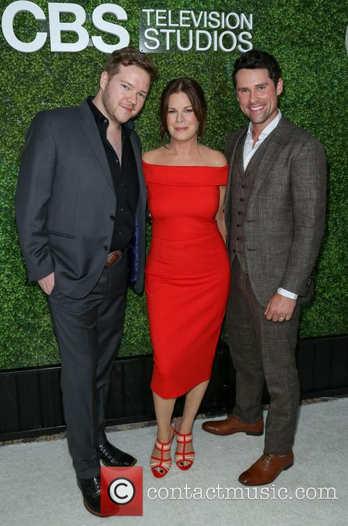 Actors Harry Ford, Marcia Gay Harden and Guest 1