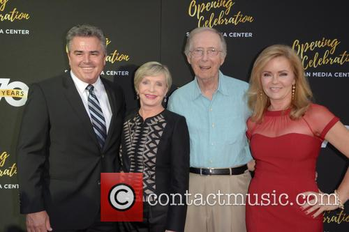 Christopher Knight, Florence Henderson, Bernie Kopell and Jill Whelan 2