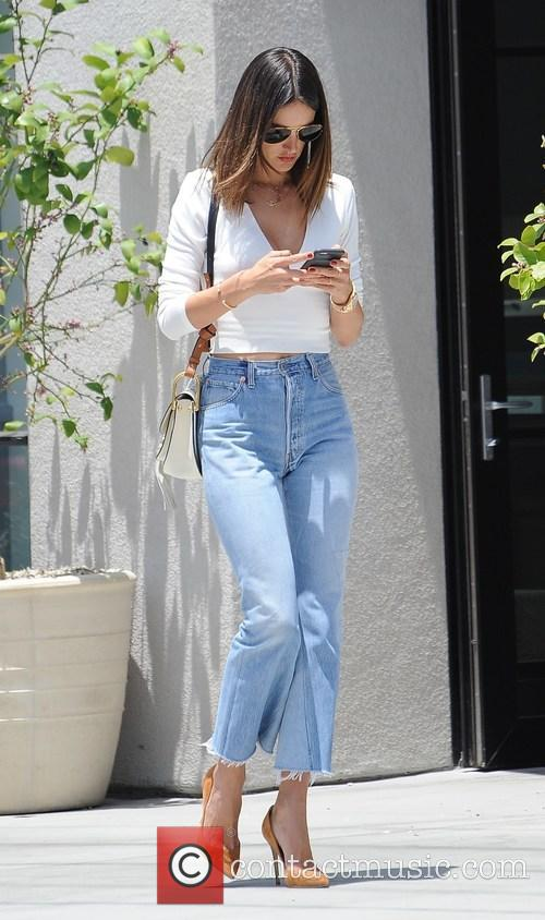 Alessandra Ambrosio gets some shopping done on Melrose...