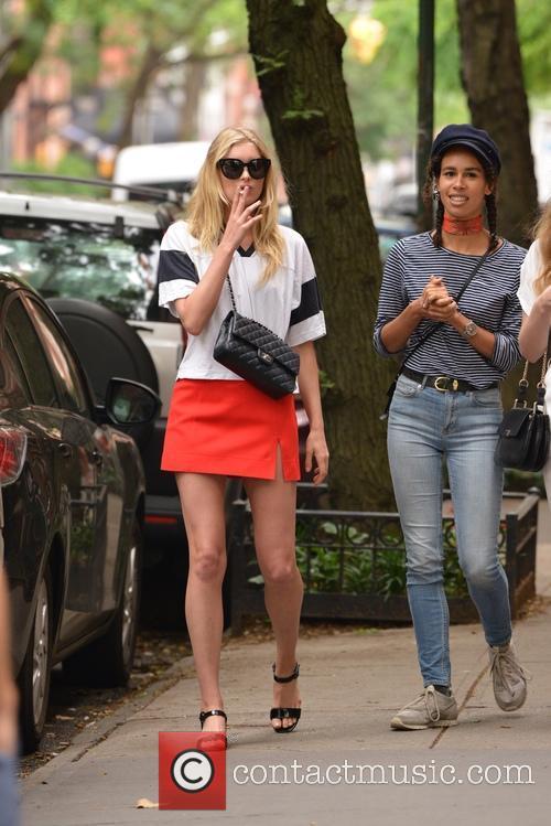 Elsa Hosk walking in Tribeca