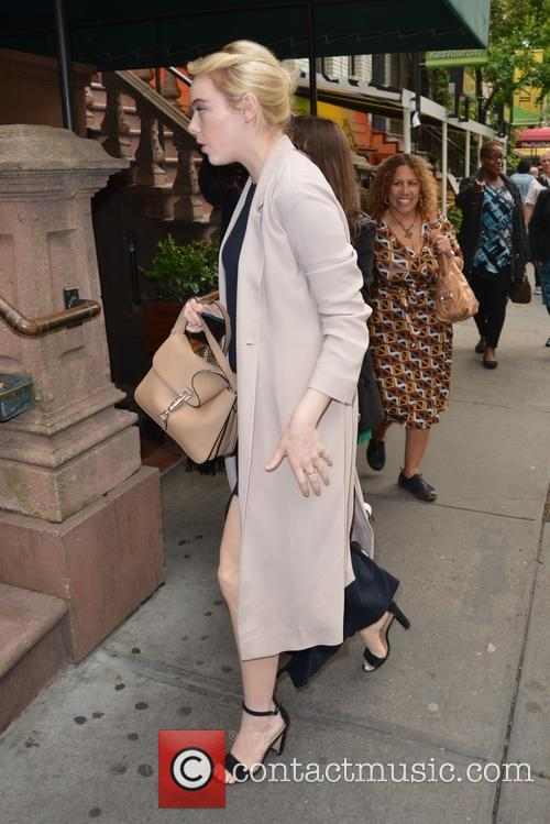Emma Stone goes to dinner in New York