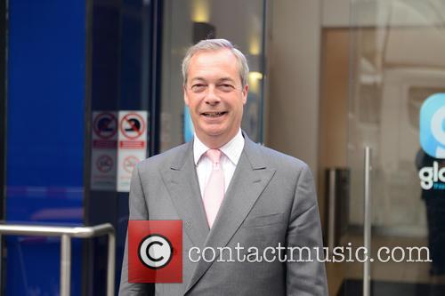 Nigel Farage leaves Global House London
