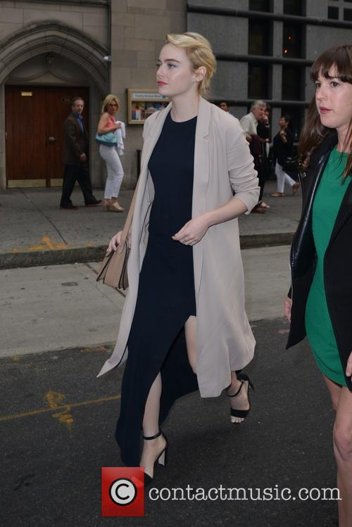 Emma Stone leaving a resturanti Midtown