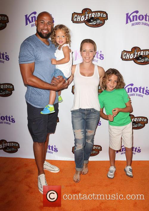 Hank Baskett, Kendra Wilkinson and Alijah Mary Baskett 2