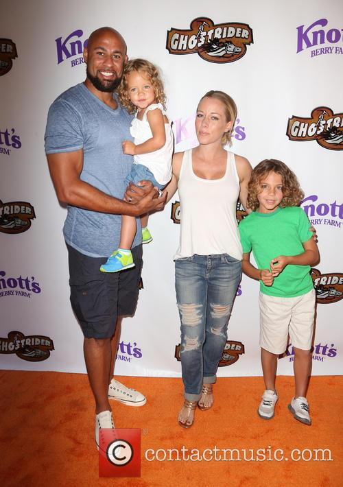 Hank Baskett, Kendra Wilkinson and Alijah Mary Baskett 6