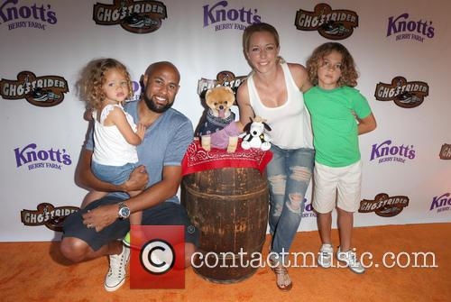 Hank Baskett, Kendra Wilkinson and Alijah Mary Baskett 9