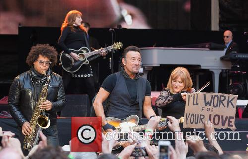 Bruce Springsteen performs live in concert