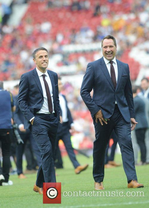 Phil Neville and David Seaman