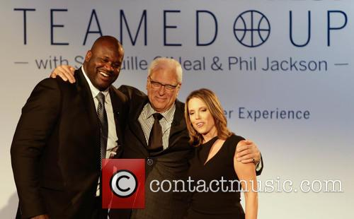 Shaquille O'neal, Phil Jackson and Hannah Storm 2