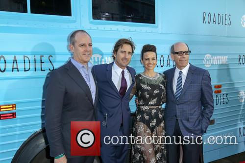 David Nevins, Luke Wilson, Carla Gugino and Matthew C. Blank