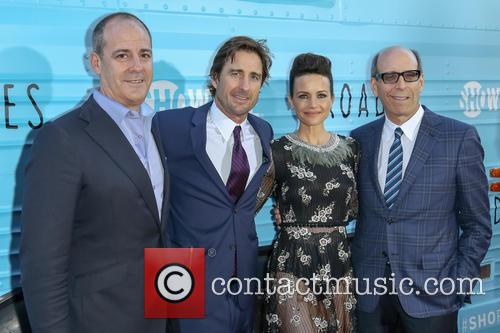 David Nevins, Luke Wilson, Carla Gugino and Matthew C. Blank 2