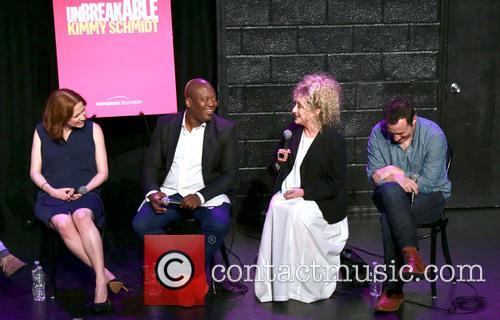 Ellie Kemper, Tituss Burgess and Carol Kane 4