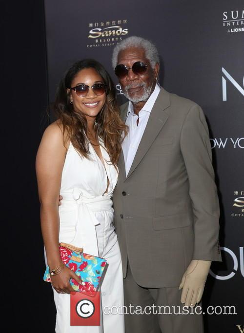 Alexis Freeman (granddaughter) and Morgan Freeman 1