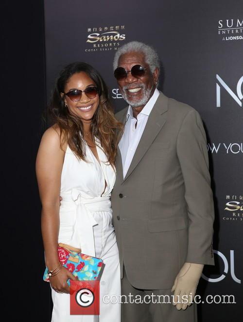 Alexis Freeman (granddaughter) and Morgan Freeman 2