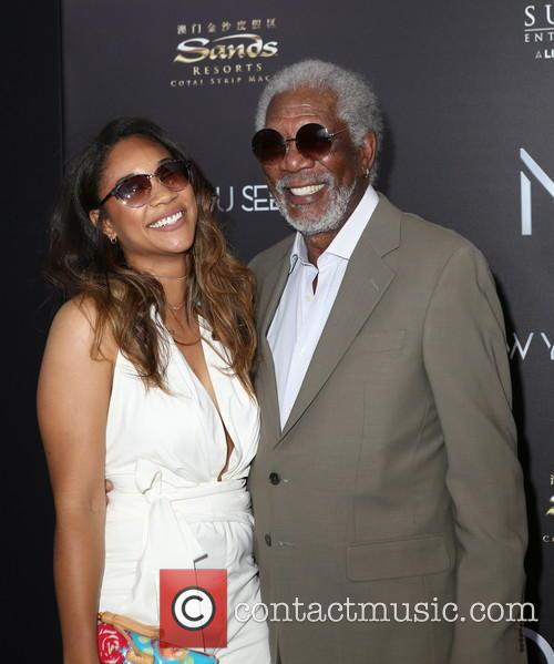 Alexis Freeman (granddaughter) and Morgan Freeman 3