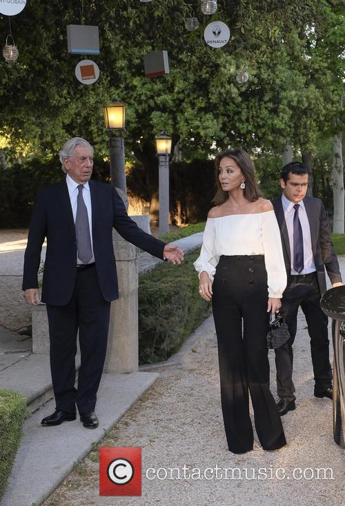 Mario Vargas Llosa and Isabel Preysler attend Prix...
