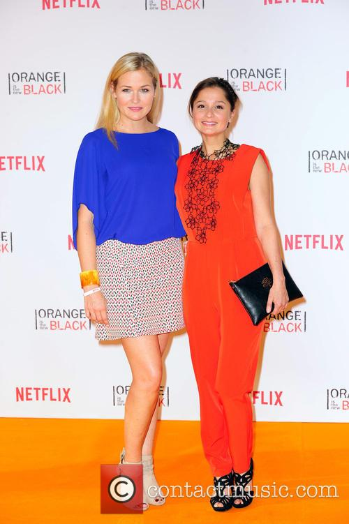 Celebrities at the premiere of 'Orange Is The...