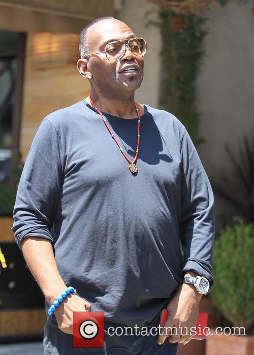 Randy Jackson goes for lunch in Beverly Hills