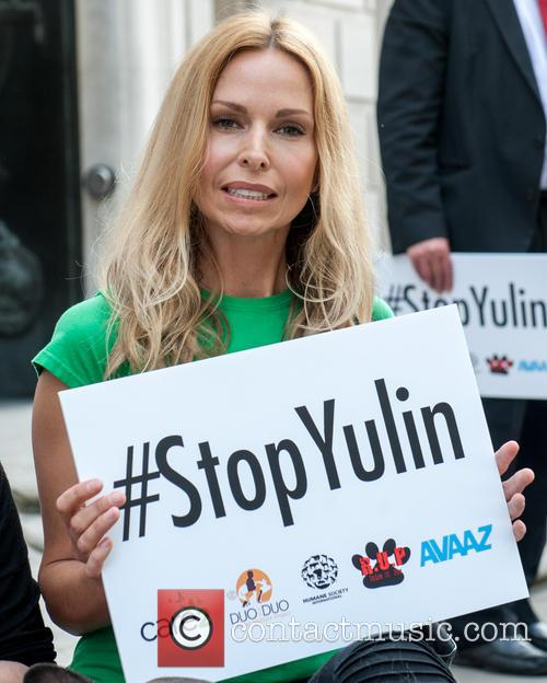 Carrie Fisher, Star Wars actress attends Stop Yulin...
