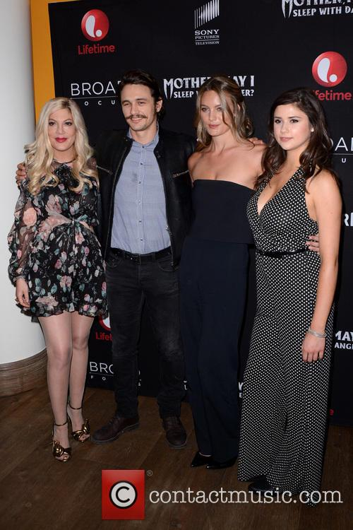 Tori Spelling, James Franco, Leila George and Amber Coney 1