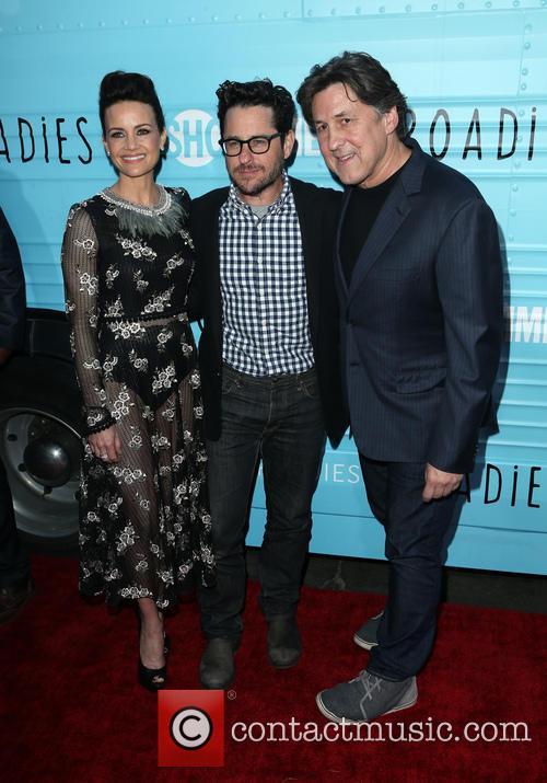 Carla Gugino, J.j. Abrams and Cameron Crowe