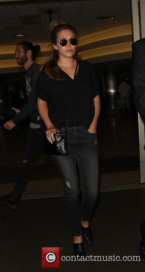 Elizabeth Olsen arrives at LAX